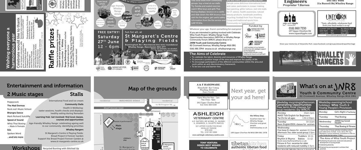 Celebrate programme spread 2015