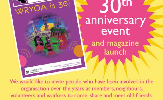 Poster for 'WRYOA is 30!' launch event