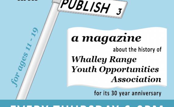 Poster promoting Whiz magazine workshops