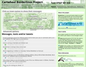 Screenshot of Borderlines project