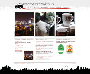 Manchester Taxi Tours website