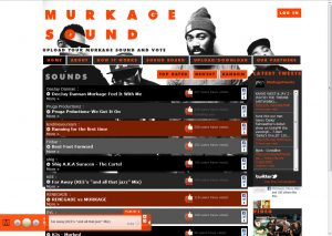 Homepage of the Murkage Sound website