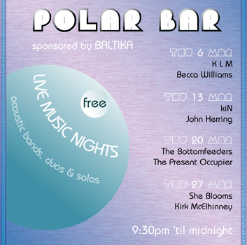Poster for band night at Polar Bar